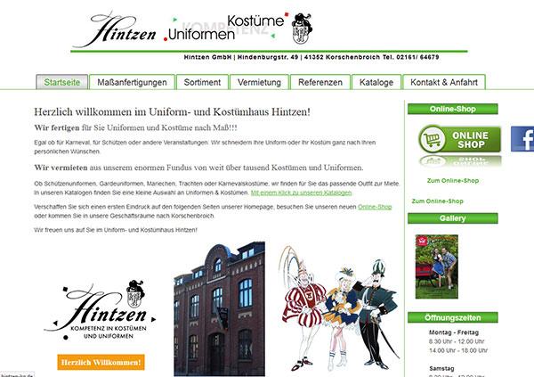 Hintzen KG, Uniformen & Kostüme
