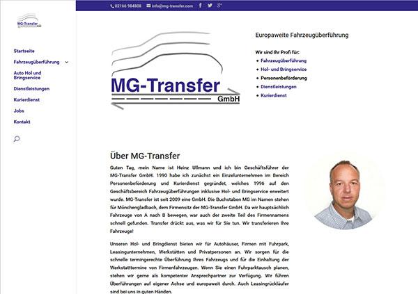 MG Transfer, Fahrzeugüberführung
